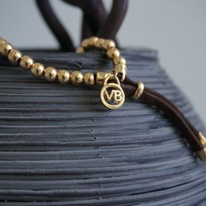 Handmade Jewelry - Gold Plated Beaded VB Stretch Bracelet Handcrafted